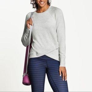 Athleta Criss Cross Sweatshirt in Heather
